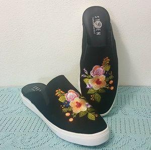 Steven Natural Comfort Slip On Floral Mules 9.5 W